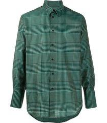 christian wijnants tupil wool check shirt - green