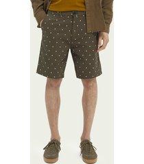 scotch & soda stuart printed chino shorts