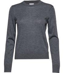kleo crew neck 11265 stickad tröja grå samsøe samsøe
