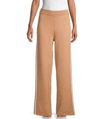 saks fifth avenue women's high-waist wide-leg pants - classic camel - size xl