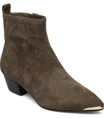 boot 4,5 cm shoes boots ankle boots ankle boot - heel grön sofie schnoor
