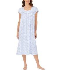 eileen west cotton lace-trim floral-print ballet nightgown