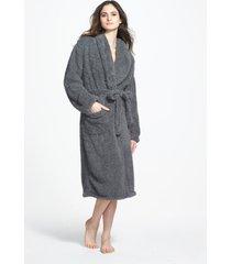 women's giraffe at home chenille robe, size 1 - grey