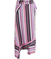 middellange rok gestreepte asymmetrische