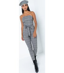 akira day out strapless tie waist jumpsuit