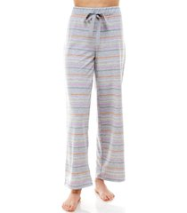 roudelain striped open-leg pajama pants