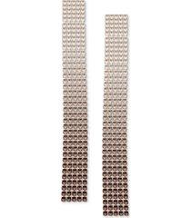 guess ombre rhinestone linear earrings