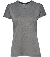 adv essence ss slim tee w t-shirts & tops short-sleeved grå craft