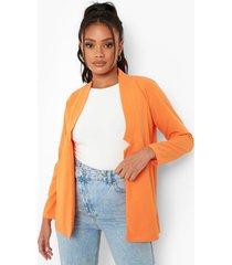 petite neon blazer, orange