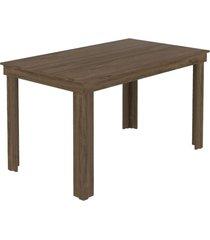 mesa de jantar tampo e estrutura madeirada carraro - incolor - dafiti