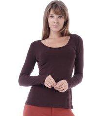 blusa amazonia vital manga longa feminina - feminino