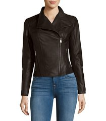 marc new york by andrew marc felix leather moto jacket - cement - size l