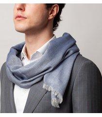 sciarpa da uomo, maalbi, cashmere seta blu, quattro stagioni | lanieri