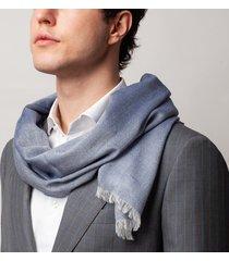 sciarpa da uomo, maalbi, cashmere seta blu, quattro stagioni