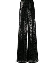 alchemy sequinned wide-leg trousers - black
