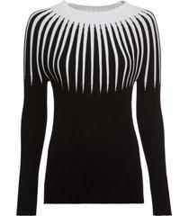 maglione con righe (nero) - rainbow