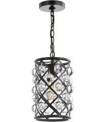 jonathan y gabrielle metal/crystal led pendant