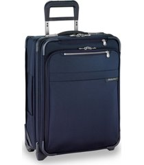 "briggs & riley baseline international 21"" 2-wheel softside carry-on wide-body"