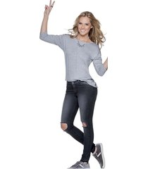 jeans gris atypical