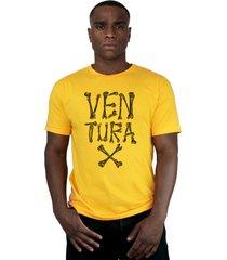 camiseta ventura bones amarelo - kanui