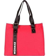 bolsa satchel em lona mormaii feminina