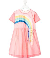 billieblush rainbow tulle skater dress - pink