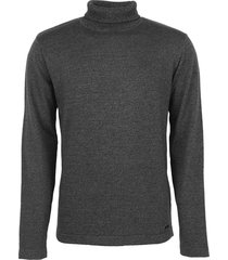 pullover roll neck, 2 colour twiste dk grey
