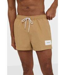 calvin klein underwear short drawstring badkläder beige