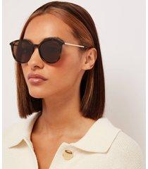 le specs women's le danzing round sunglasses - tort/gold