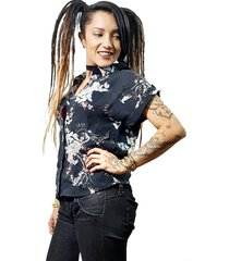 camisa blusa afro vintage alta calidad mujer manga corta