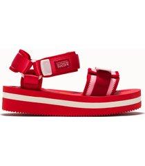 suicoke sandalo cel-vpo colore rosso