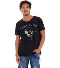 camiseta joss corte à fio skull noise masculina