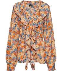 mila, 567 flowers silk blouse lange mouwen multi/patroon stine goya