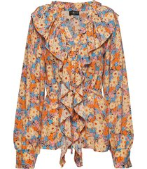 mila, 567 flowers silk blouse lange mouwen multi/patroon stine goya