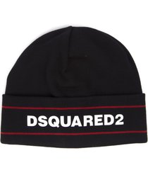 dsquared2 black dsq2 cotton cap