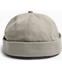 mens navy grey canvas docker hat