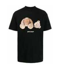 palm angels camiseta com estampa de urso - preto
