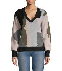 cashmere camo sweater