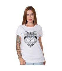 camiseta   stoned blue wolf branca