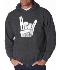 la pop art men's word art hooded sweatshirt - heavy metal