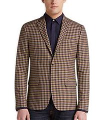 ben sherman tan check extreme slim fit sport coat