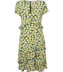 diane von furstenberg all-over floral printed asymmetric dress