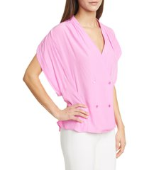women's smythe double breasted drapey top