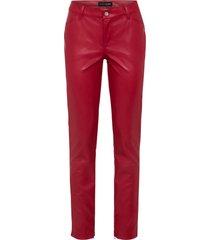pantaloni alla caviglia in similpelle (rosso) - bodyflirt