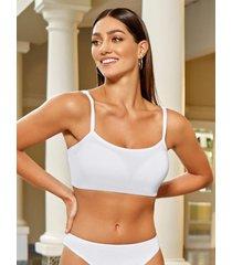 chamela 27660 - bra tipo top - ropa interior femenina-blanco