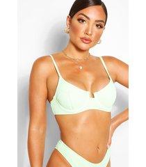 mix & match bikini top met beugel, green