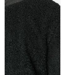helmut lang textured sweatshirt - black