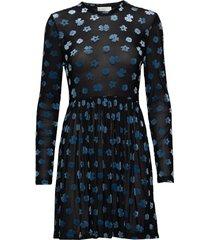juliana, 773 velvet devore korte jurk zwart stine goya