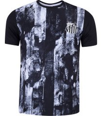 camiseta do santos fold - masculina - preto