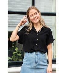 24 colours blouse zwart 30228b